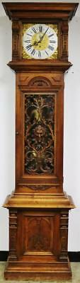 Rare Antique Vieneese Walnut 2 Month Duration Precision Regulator Longcase Clock