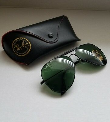 79fa87baa RAY-BAN OUTDOORSMAN 2 Black Aviator G-15 Glass Lens 58mm - $64.99 ...