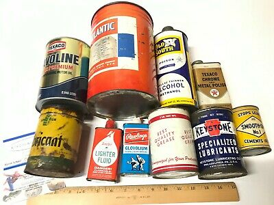 Vintage Ultra Lube Grease Can 1LB Tin Litho Canco USA FULL CAN GREAT GRAPHICS