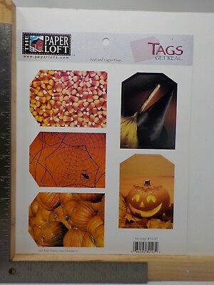 THE PAPER LOFT GET REAL REALITY HALLOWEEN DIE CUT EMBELLISHMENT TAGS A11422