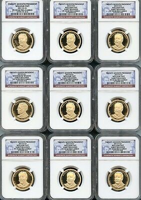 Mixed Lot Presidential Dollars (9 Pieces) NGC PF70 Ultra Cameo (As Pictured) 102