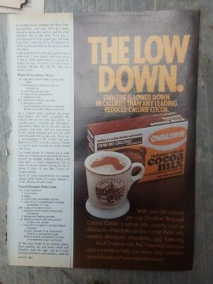 1981 Print Ad-Ovaltine Reduced Calorie Cocoa Mix