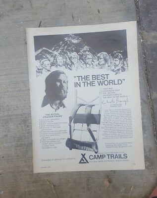 1974 Print Ad-Best in the World-Chris Bonnington-Astral Cruiser Frame-Camp Trail
