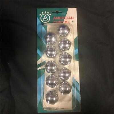 """Pack of 10 Rounded Chrome Lug Nut Covers for 1-1/4"""" x 1 5/8"""" Dayton Wheels"""