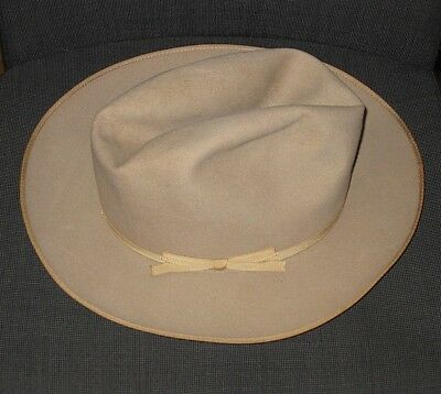 633379cd844 Stetson Twenty-Five 25 The Open Road Beige Felt Cowboy Western Hat Men s 7 1