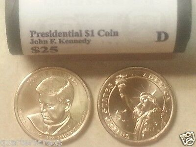 Head/Tail~ 2015 D MINT JOHN F. KENNEDY PRESIDENTIAL $25 DOLLAR ROLL UNCIRCULAT