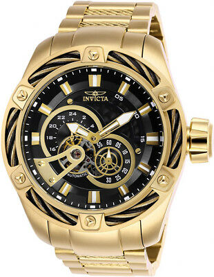 Invicta Men's Bolt Automatic Chronograph Gold Plated Stainless Steel Watch 26775