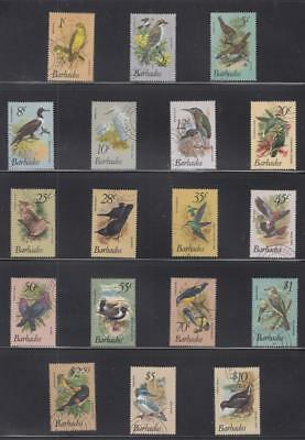 Barbados # 495-511,506A Vf-Used Native Birds Selection Cat Value $52