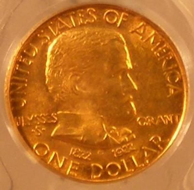 1922  Grant, No Star  Gold G$1      PCGS MS 66    UNCIRCULATED