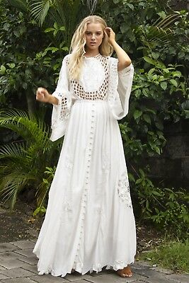 7b2e2a5ab71 FILLYBOO IS THERE LOVE ON MARS IVORY XS NWT Wedding Free People Boho Gown  Dress
