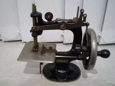 Childs Early USA Singer Sewing Machine.