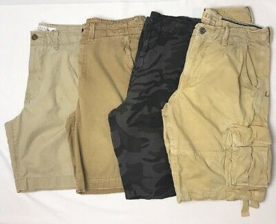 Mens Youth 4 Pair Lot Shorts Size 34 Three American Eagle,  One Burnside