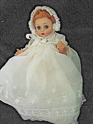 Madame Alexander Doll Little Genius Baby Orig Tag Christening Clothes Outfit
