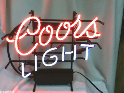 Coors Light beer sign vintage neon lighted bar signs 1 brewing Coor's KR9