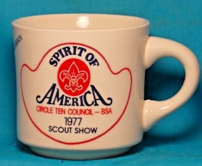 BOY SCOUTS Spirit of America Circle Ten Scout Show 1977 COFFEE CUP / MUG