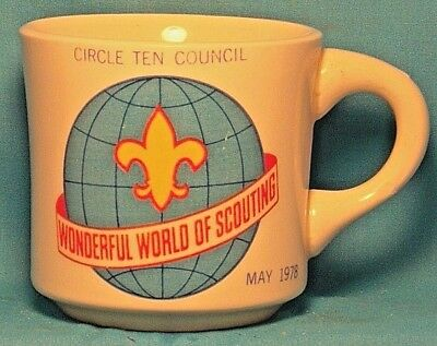 BOY SCOUTS Wonderful World of Scouting Circle Ten Council 1978 COFFEE CUP / MUG