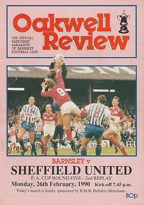 BARNSLEY v SHEFFIELD UTD 1989/90 FA CUP 5TH ROUND 2ND REPLAY