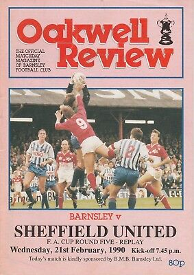 BARNSLEY v SHEFFIELD UTD 1989/90 FA CUP 5TH ROUND REPLAY