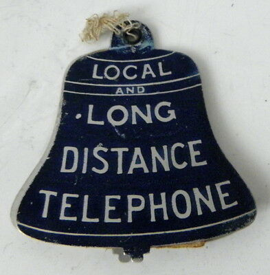 c1920s die-cut aluminum FOB Bell Local and Long Distance Telephone