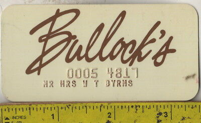 I have a 1960s Bullock's Department Store credit card