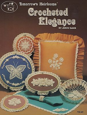 Crocheted Elegance Tomorrow's Heirlooms Pattern Booklet TH-20 Rose Flower & More