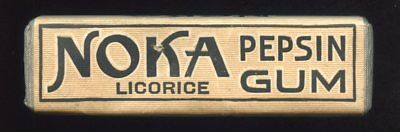(probably 1930's) NOKA Licorice Flavor Pepsin Gum CHEWING GUM Full Pack Unopened