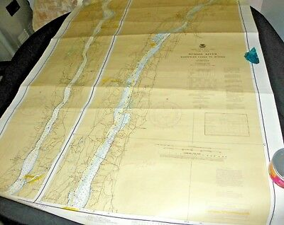 Vintage Nautical Chart Map New York  Wappinger Creek To Hudson River 1983 #12347