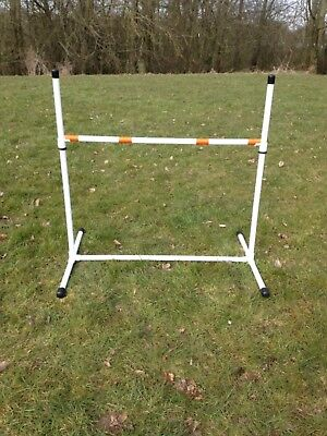 Dog agility freestanding adjustable height jump in White by jessejump agility