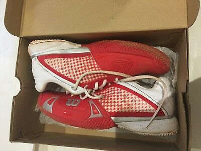 Wilson Rush Pro Cc Tennis Mens Shoes Red White Silver - Us 8 | Uk 7.5 - As New