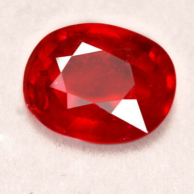 5.15CT Natural Mozambique Pigeon Blood Red Ruby Faceted Cut UQHB166