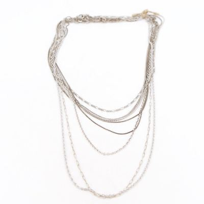 VTG Sterling Silver - Lot of 10 Assorted Chain Link Necklaces NOT SCRAP - 26g