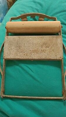 Antique Donald Wringer  Brush Co Portable Wringer / Wooden Rollers Pat # 1673473