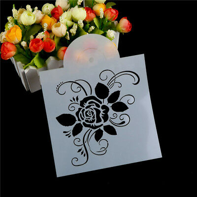 1pc Rose flower Shape Cake Stencils Environmental Plastic Spray Cake Mould