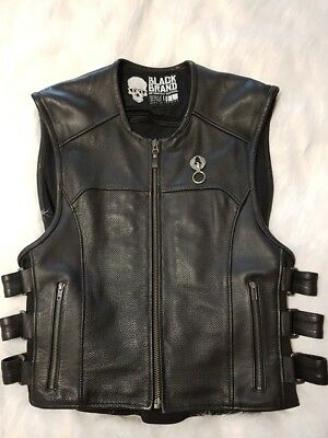Leather Perforated Motorcycle Vest