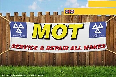 MOT Car Service and Repair All Makes Heavy Duty PVC Banner Sign 3290