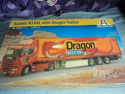 ITALERI SCANIA R144L with DRAGON TRAILER(NEW FACTORY SEALED)