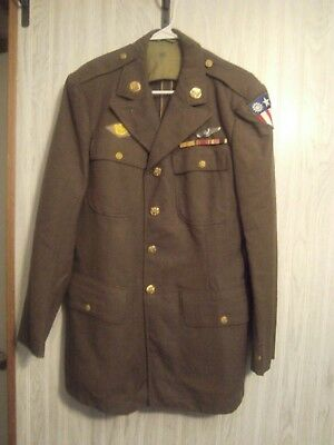 US WW2 Army Air Corps Class A jacket Burma China patch & sterling wings