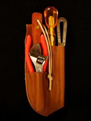 Captain Currey Deluxe 5-Pc Rigging Knife, Marlinspike Tool Kit w/ Leather Sheath