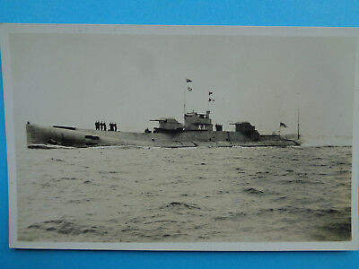 British Xl Class Submarine  Early Real Photo Postcard Un Posted Cond Mint