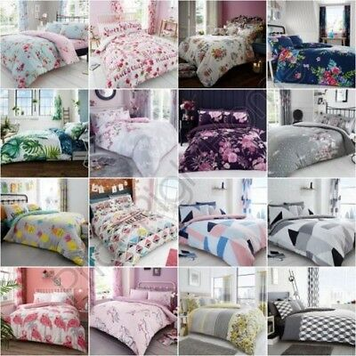 Single Double King Duvet Cover Set Bedding - Geometric Floral Unicorn Flamingo