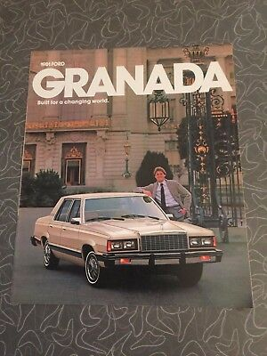 1981 Ford Granada Car Auto Dealership Advertising Brochure
