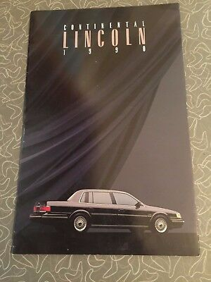 1990 Lincoln Continental Car Auto Dealership Advertising Brochure