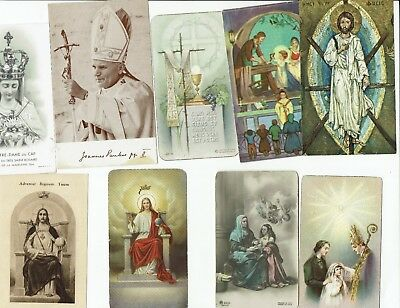lot 15 old Christian Holy & Prayer cards-Images Saintes, mostly 1930's-1960's