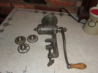 Vtg. Large L.F.& C. New Britain Conn Universal 8 Heavy Table Mount Food Grinder