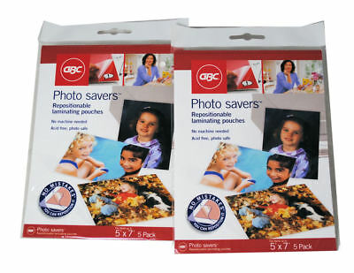"""Photo Savers  5"""" x 7"""" Laminating Pouches Lot of 10 (2 packs)"""