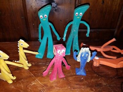 JESCO figures Gumby RARE blue goo Blockhead prickle Pokey horse