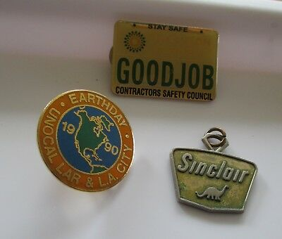 Nice 3pc OIL & GAS / SINCLAIR UNOCAL BP CARSON REFINERY Medal & Pin Lot (AP255