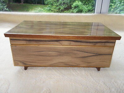 Vintage Wooden Musical Jewellery Box - circa 1950's/1960's