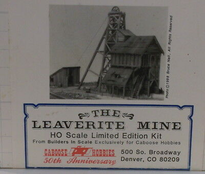 "HOn3 HO CRAFTSMAN BUILDERS IN SCALE ""THE LEAVERITE MINE KIT"" NEW UNSTARTEDb"