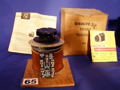 Ohmite Variac 0/120 Volt To 120/140 Volt 3.5 Amp New Old Stock .made In The Usa.